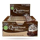 Quest Nutrition Quest Bar High Proteinriegel Eiweißriegel Protein Eiweiß Whey 12x 60g (Blueberry Muffin - Blaubeer Muffin)