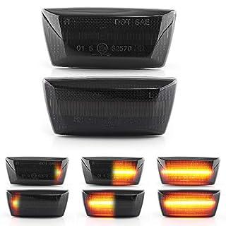 LED Blinker Seitenblinker Blinkleuchte Dynamisch Laufblinker mit E-Prüfzeichen Black Vision V-171902LG