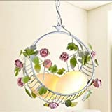 Neue moderne Drachen Eier Rose Prinzessin Pendelleuchte Schlafzimmer Lampen kreative Blumenkorb Pendelleuchte ZL382 lo12