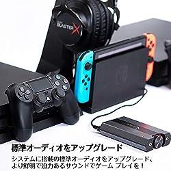 Creative DAC de Jeu Sound BlasterX G6 7.1 HD et Carte Son USB Externe avec Casque Xamp pour PS4, Xbox One, Nintendo Switch et PC