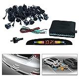 Hengda® Aide au stationnement 8 capteurs de recul pour automobile capteur pDC voiture noir