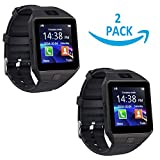 Best Clock Radio For Iphones - TechHunk Universal DZ09 Touch Screen Bluetooth Smartwatch Mobile Review