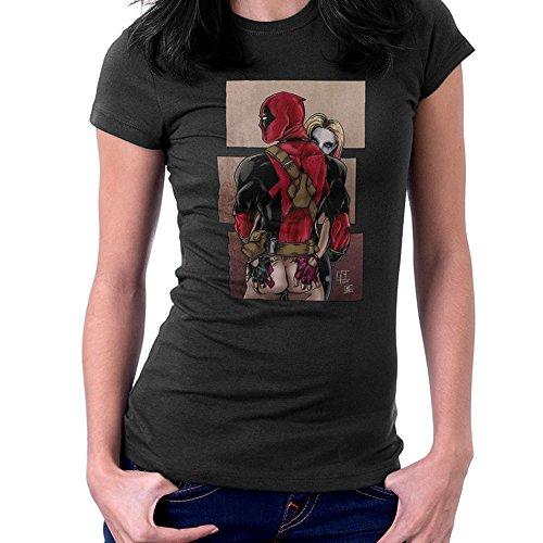 Harley Quinn Kneads Deadpool Suicide Squad Women's T-Shirt Black