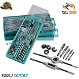 #6: Tools Centre 12pcs Threading Tap & Die Set M6-M12,Metric Sizes,Tap & Dies With Tap Wrench & Round Die Handle Complete Set