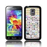 'Smiley Emojis' TPU Silikon Schutzhülle für Samsung GALAXY S5 MINI (SM-G800F) Hülle schwarz