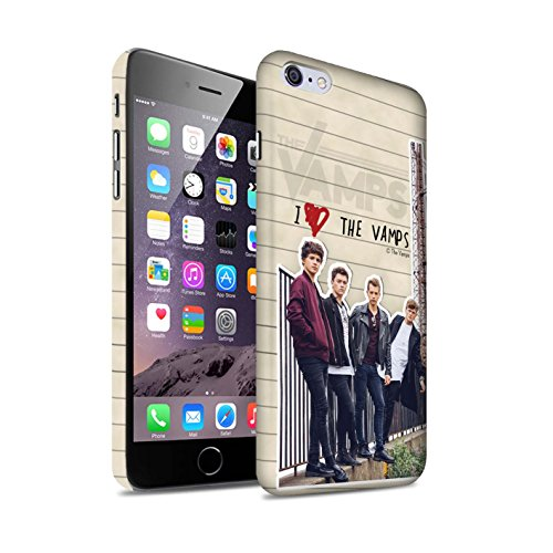 Offiziell The Vamps Hülle / Matte Snap-On Case für Apple iPhone 6S+/Plus / Pack 5pcs Muster / The Vamps Geheimes Tagebuch Kollektion Band