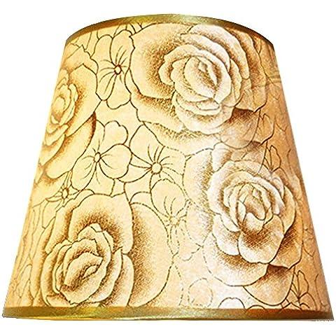 Eastlion semplice manuale moderna paralume in PVC per lampada da tavolo, lampada da parete, lampada da comodino, lampada da terra con E27 lampada titolare Coprilampada 16x25x18cm oro rosa