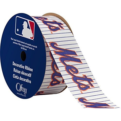 Offray MLB New York Mets Stoff Band, 1-5/40,6 cm X 9 ft