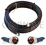 #7: OXYWAVE High Quality 200-LMR Cable Double Shielded Coaxial Cable for Antenna Extension (35 Meter or 113 Feet)