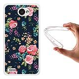 WoowCase LG X150 Bello 2 Hülle, Handyhülle Silikon für [ LG X150 Bello 2 ] Vintage Blumen Rosen Handytasche Handy Cover Case Schutzhülle Flexible TPU - Transparent