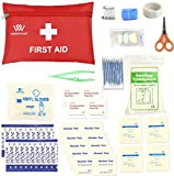 First Aid Kit,Portable Medical Bag Survival Emergency First Aid Kit by WOODHEART, prepare for Car,Home,Picnic,Camping ,Travel and Other Outdoor Activities