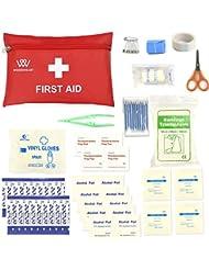 Trousses de secours , kit de secourisme d'urgence de survie des sacs médicaux portables par WOODHEART, préparez-vous pour la voiture, la maison, le pique-nique, le camping, les voyages et autres activités de plein air