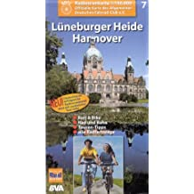 Radtourenkarten 1:150000 (ADFC): ADFC Radtourenkarten, Lüneburger Heide, Hannover