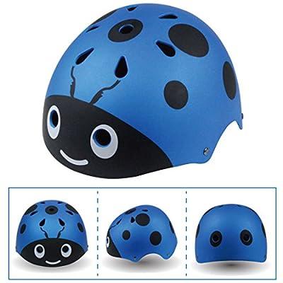 YAKOK Kids Helmet, Beetle Design Helmet Kids Safety Helmet for Bike Scooter Skateboard Skate for Child Boys and Girls, Age 3-12 (Blue) from YAKOK