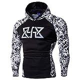 Challeng Sweatshirts,Herren Langarm Kapuzenpullover Herren Club Team Bodybuilding Tops Heißer Verkauf (XL, Weiß)