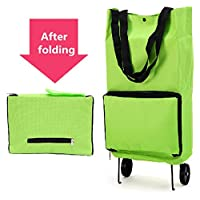 45b5d18b17 Large Oxford Protable Folding Reusable Grocery Shopping Cart Bag With  Wheels Trolley Bags Travel Storage Package