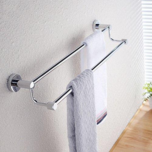 QFF acier inoxydable double barre porte-serviettes de bain serviette serviette suspendue tige allongée serviette de bain suspendu (taille : 30cm)