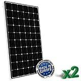 Set di 2 Pannelli Solari Fotovoltaici 300W totale 600W Monocristallino Europeo adatto per Impianti...
