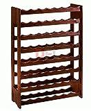 CANTINETTA 56 posti porta bottiglie In legno scuro multistrato di betulla, dimensioni cm. 67x25xh.100. DF 790850