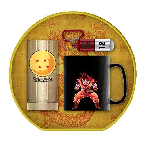 Dragon Ball Z Geschenkset Crystal Ball 2-3-teilig, in Geschenkkarton. Thermoeffekt-Tasse, Glas, Schlüsselanhänger. (Shenlong Ball Schlüsselanhänger Dragon Z)