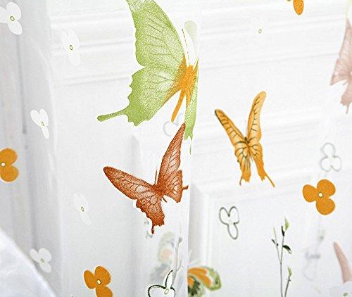 Voile Blumenmuster Schmetterling Gardine TüLl Fenster Behandlung Voile Drapieren Volant Stoff Verdunkelungsvorhang Fenster Dekoschal Scheibengardinen Gardinen Ideen Wohnzimmer