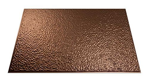 Fasade B55-26 Easy Installation Backsplash Hammered Panel for Kitchen and Bathrooms, 18 x 24, Oil-Rubbed Bronze by Fasade (Fasade Panels Backsplash)