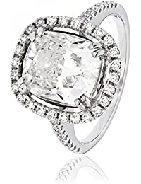 4, 70CTS g/certificado VS2 4, centro 01CT dicho anillo de diamantes con Halo de diamantes y en los hombros 18 K oro blanco