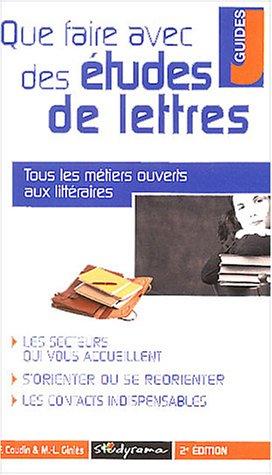 Que faire avec des études littéraires ?