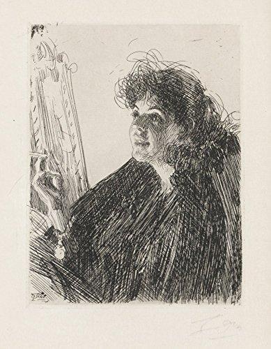 Das Museum Outlet-Anders Zorn-Zigarette Smoker I (Ätzen) 1891, gespannte Leinwand Galerie verpackt. 40,6x 50,8cm