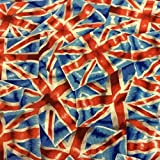 Fat Quarter London Union Jack Flaggen Nähen Baumwolle