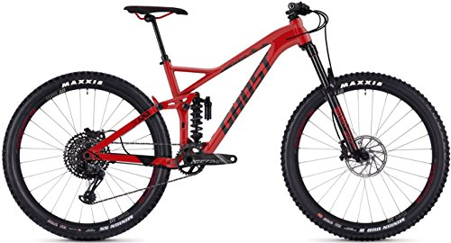 Ghost Slamr 6.7 AL U 27.5R Fullsuspension Mountain Bike 2018 (M/43cm, Riot Red/Night Black)