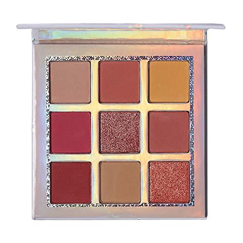 ReooLy 9 Farbe Wasserdichte Pinsel Lidschattenplatte Pulver Matt Lidschatten Kosmetik Make-Up