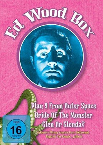 Bild von Ed Wood Box (Plan 9 from outer Space, Glenn or Glenda?, Bride of the Monster + Bonusmaterial)(OmU) [3 DVDs]
