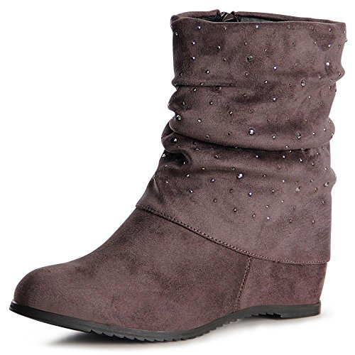 1062 Cunha Calcanhar Botas Cinza Mulheres Do Topschuhe24 Botas Boots Ankle dqIwSZ