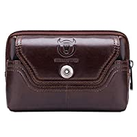 Leathario Men�??s Genuine Leather Small Pouch Belt Waist Bag Hip Bum Bag.