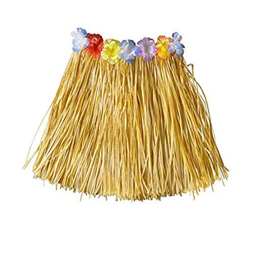 Simply Gorgeous Mädchen Hawaii- Gras- Rock-Blumen- Hula Lei Garland Kostüm - Natürlich