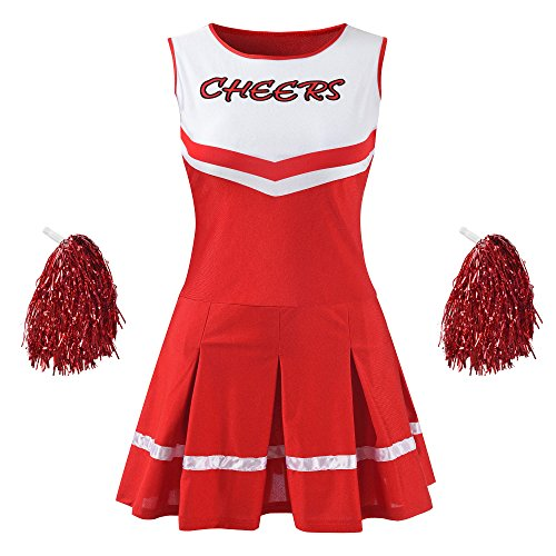 Makroyl Disfraz de Uniforme Musical para Mujer, Rojo, X-Large
