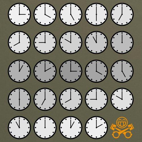 PistonHeads PHLM14 Clocks T-Shirt, Damen Olivgrn