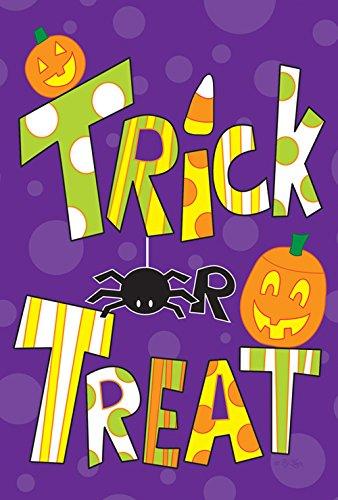 lagge, 31,8 x 45,7 cm, dekorativ, bunt, Halloween, Süßigkeiten, Gartenflagge ()