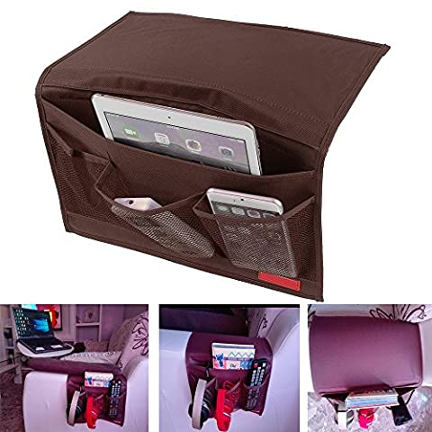 GUO Bedside Caddy Storage Organizer Hanging Bag,Chair Desk Sofa Slipcovers TV Remote Controller Holder Organizer Bag Table Cabinet Magzine Book Caddy