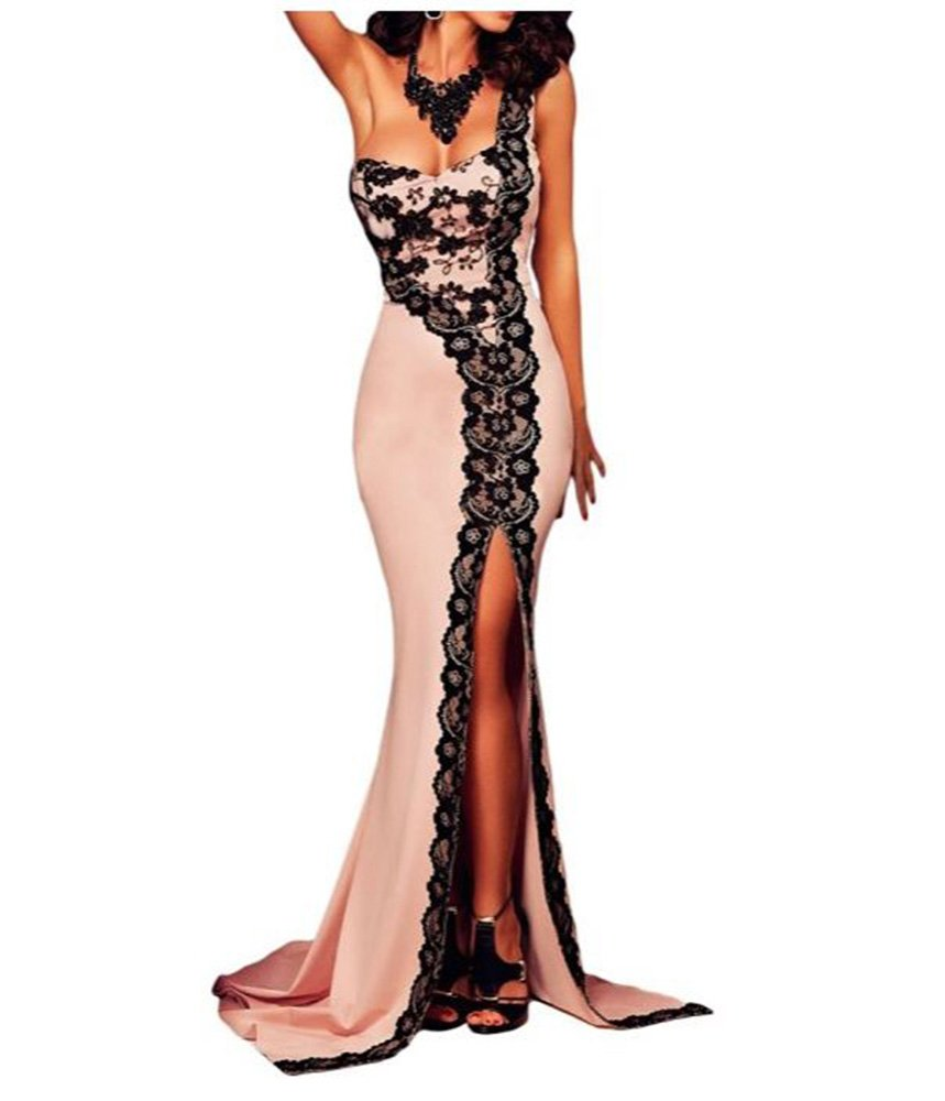 best cheap bbb70 811dd Ovender® Vestiti Eleganti Lunghi da Donna Ragazza Abito Vestito Donne  Ragazze Impero Formale Elegante Lungo per Ballo Pizzo Party Cerimonia Festa  ...
