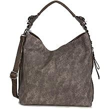 87217ce31395b Xuna Beuteltasche Damen - Handtasche Beutel Taschen - groß Kunstleder PU  Vintage