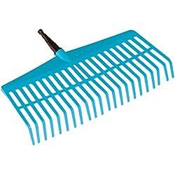 GARDENA combisystem-Rechenbesen: Handlicher Zinkenbesen zum Zusammenfegen von Laub und Grasschnitt, mit robusten Kunststoffzinken, Arbeitsbreite 43 cm (3101-20)
