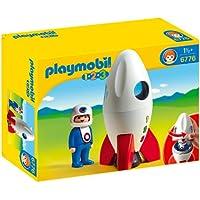 Playmobil 1.2.3 - Cohete y astronauta (6776 )