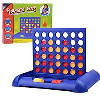 4 in a Row Giant Wooden Board Game, Four in a Row Game Giant Wood Board Game, Line Up 4, Classic Family Toy with Sunflower Disc for Kids and Family for Fun