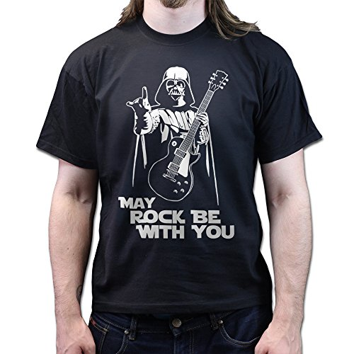 May Rock Force Be With You Darth Les Paul Standard 59 Guitar T-shirt Schwarz