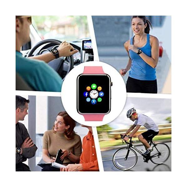 Reloj Inteligente, con Bluetooth y Ranura para Tarjeta SIM para Usar Como Teléfono Móvil. Reloj Deportivo con Rastreador… 8