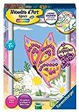 Ravensburger- Numéro d'art Petit-Papillon et Sequins Loisir Créatif, 4005556276820