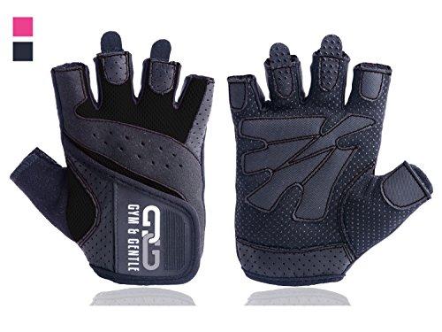Gym & Gentle Damen Fitness Handschuhe - Schutz für Frauen beim Sport / Kraftsport / Fahrrad / Bodybuilding /Hanteltraining / Gym