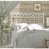 HOGARES CON ESTILO - Cabecero de Forja nacional modelo SOFIA para una cama de 135 cms. (Varios colores y medidas disponibles).